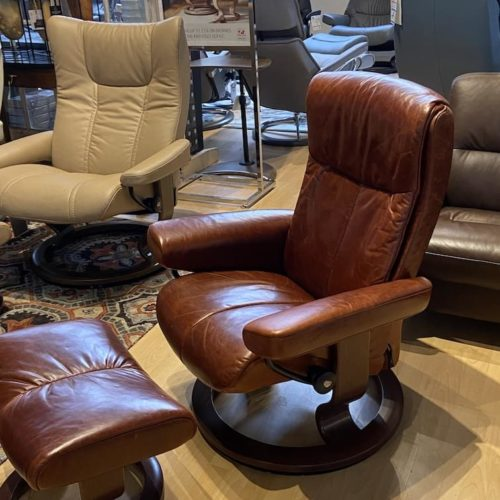 Stressless Peace Small Recliner at Mums Place Furniture Monterey CA
