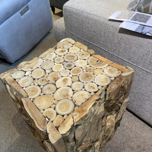 Uttermost Teak Root End Table at Mums Place Furniture Monterey CA