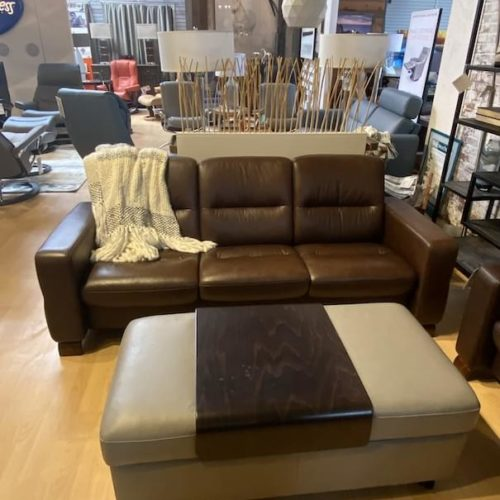 Stressless Double Ottoman Table at Mums Place Furniture Monterey CA