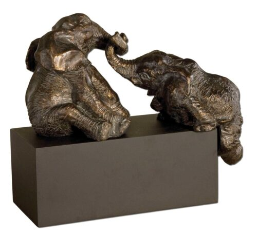 Uttermost Playful Pachyderms Figurine at Mums Place Furniture Monterey CA