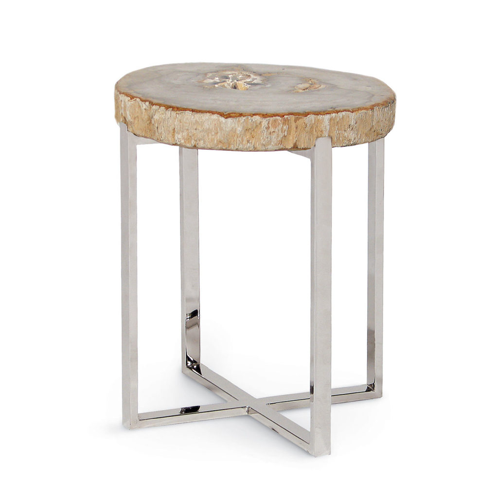 Petrified Wood Accent Table by Palecek Mums Furniture Carmel CA