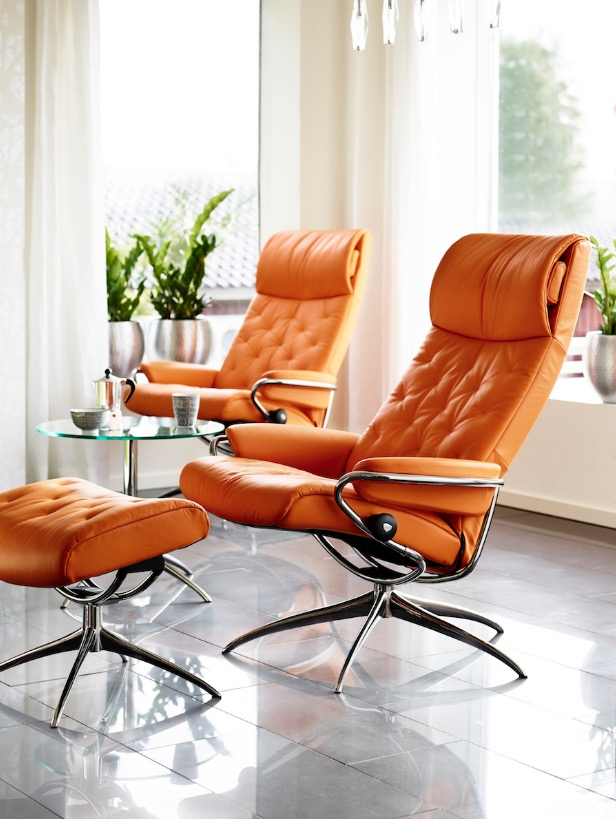 stressless-recliner-orange-leather
