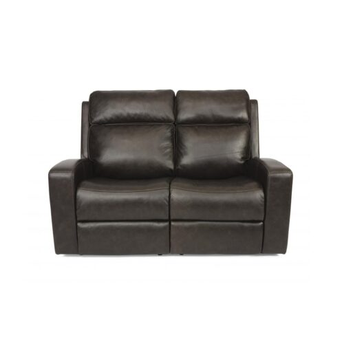 Flexsteel Power Recliner Loveseat with Power Headrest for Pebble Beach Home